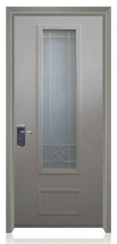 דלת פלדה עם חלון ארוך