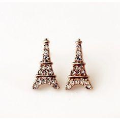 "$17.99  Unique European Style Rhinestone Eiffel Tower Earrings Size: Length: 1.6 cm(0.63"" ) , Width 0.8 cm(0.31"" ) uf"