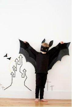 Disfraz casero de vampiro para Halloween