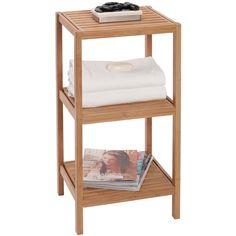 Creative Bath 3-Shelf Tower Organization ($70) ❤ liked on Polyvore featuring home, home decor, small item storage, bamboo, 3 shelf, tower, 3 shelves, handmade home decor and three shelf