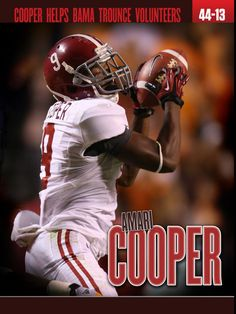Amari Cooper and Alabama defeat the Tennessee Vols 44 - 13 in 2012.