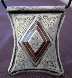 Old Berber Silver Gri Gri Tscherot AMULET with by TuaregJewelry, $128.00