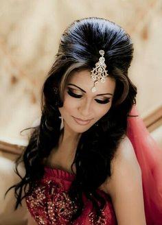 Gorgeous tikka hair