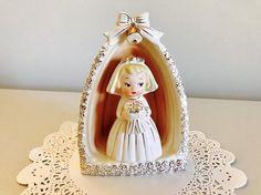 Vintage Wedding Bride Figurine Japan 1950's Vintage Cake