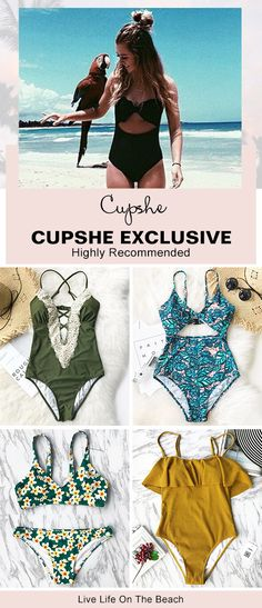 Find your go-to beach essentials with bikinis, one-piece swimsuits and more from Cupshe. Knockout designs and colors perfect fit a whole range of flawless styles. Highly recommended! Enjoy FREE shipping~