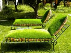 brilliant - cushions made from artificial turf