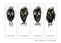 Owl bookmarks - really cute
