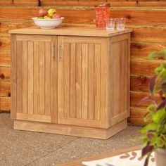 Teak Outdoor Buffet with Storage | Teak, Buffet and Storage