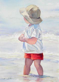 Little Boy in the Surf by Sue Lynn Cotton