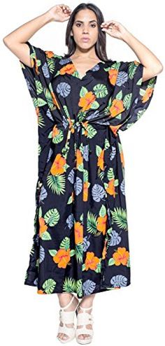 Womens Beachwear Long Casual Dress Caftan MAXI Evening Loose Dress Printed Black One_Size_Fits_Most 1889 Valentines Day Gifts 2017 *** Check out this great product. Beach Kaftan, Maternity Swimwear, Beach Wrap, Beachwear For Women, Beach Dresses, Cover, Wrap Dress, Swimsuits, Kaftans