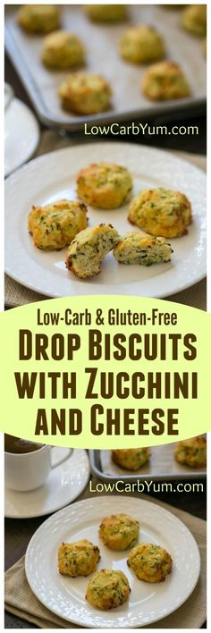 Not sure what to do with your summer zucchini crop? Why not give these low carb zucchini drop biscuits with cheese a try? They are so good! | LowCarbYum.com