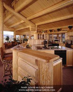 Custom Log Home Interior by seanenns, via Flickr