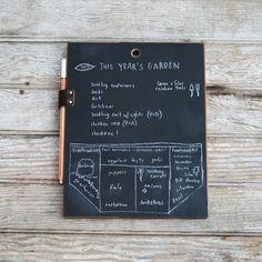 Chalkboard Slate and Chalk Pencil