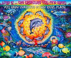 LOVE IS ...VERSE  www.zazzle.co.uk/kompas #love #alanjporterart #kompas #dolphines #ocean #beautiful #quote #spirit #soul #verse #zazzle #treasure #find