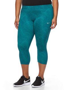 ba1dea6241c02 Nike Plus Size Essential Power Training Capri Workout Tights Nike Capri,  Power Training, Plus