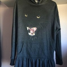 WILDFOX SZ SMALL BLACK PANTHER HOODIE SWEATER As seen :) Wildfox Sweaters