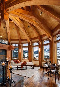 Деревянный дом-дворец в Монтане | Орлиное гнездо