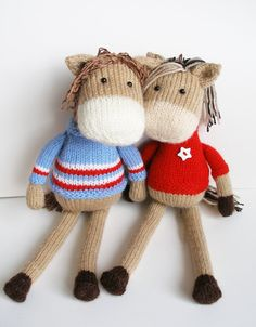 Horse toy knit pattern digital downloads 2 needles knitting on Etsy, $5.28 AUD