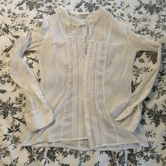 Peasant sheet blouse This is a feminine and sweet sheet button up blouse. American Eagle Outfitters Tops Blouses