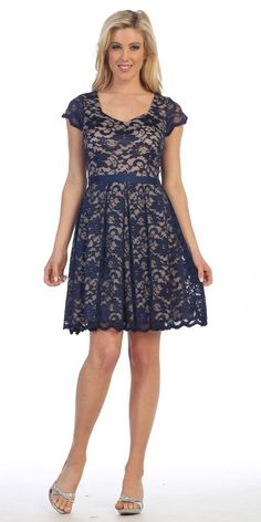 Knee Length Lace Short Sleeve Dress Burgundy/Taupe With Ribbon Bow Navy Lace, Navy Blue Dresses, Summer Dresses, Formal Dresses, Ribbon Bows, Lace Shorts, Lace Dress, Taupe, Burgundy