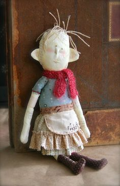 Cynthia Shaffer-Odd little art doll. Started out to be a monster doll and turned into something else.