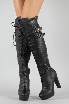 Wilona-10 Lace Up Thigh High Boot  $44.20