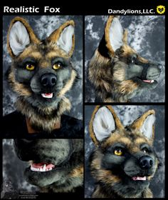A realistic fox soon to be a full suit! Thank you DVC for the resin base and jawset.  Photos by yotesnaps