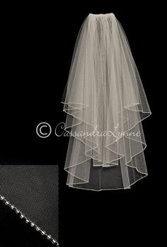 Classic Two Layer Veil with a Seed Bead Edge