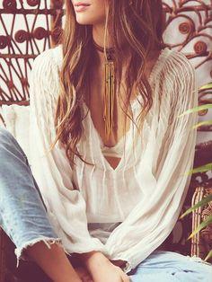 bohemian boho style hippy hippie chic bohème vibe gypsy fashion indie folk look… Gypsy Style, Boho Gypsy, Hippie Style, Bohemian Style, Hippie Boho, Boho Chic, Style Me, Mode Hippie, Mode Boho