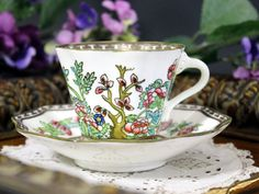Coalport Indian India Tree Scalloped Footed by TheVintageTeacup