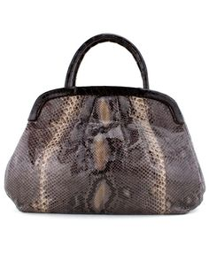 Nancy Gonzalez Python and Crocodile Handbag