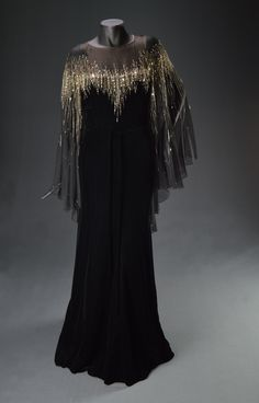 """Dionne Warwick, """"Dionne Warwick Live in Cabaret,"""" Designed by Michael Travis, The Collection of Motion Picture Costume Design: Larry McQueen Theatre Costumes, Movie Costumes, Fancy Costumes, Costume Collection, Historical Clothing, Fashion History, Costume Design, Old Hollywood, Frocks"""
