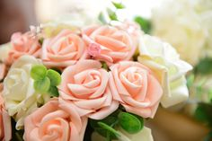 Artificial flowers are becoming more and more popular and you can see why. Really hard to tell the difference and helps to keep the cost down.