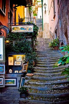 Staircase in Varenna, on Lake Como #italy #travel