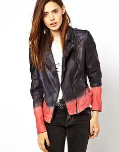 Muubaa Tehmi Dyed Leather Biker Jacket