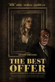 A master auctioneer becomes obsessed with an extremely reclusive heiress who collects fine art. Director: Giuseppe Tornatore Writer: Giuseppe Tornatore (story and screenplay) Stars: Geoffrey Rush, Jim Sturgess, Sylvia Hoeks 2013