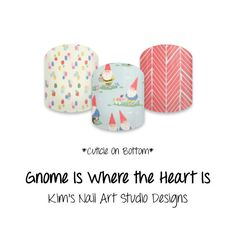 """Gnome is Where the Heart Is PRE-ORDER: by KimsCustomNASdesigns If you want to get these beauties of your fingers and toes, head on over to my Etsy shop!  Simply click on the image above and it will direct you right to the listing on Etsy!  To see more of my designs and some special sales, join my Facebook group """"Kim's Nail Art Studio Designs"""" at www.facebook.com/groups/925106354278688 Thanks for the interest in my designs!"""