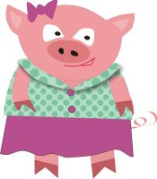 Free Three Little Pigs Clipart