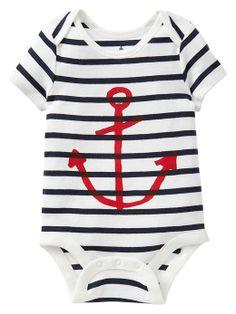 a784344bf74 DG Baby Stripe anchor bodysuit