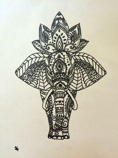 #manualidades #elefante #elefant #henna #mandala #tatuaje