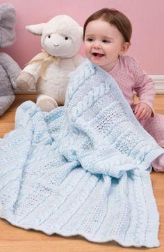 Heavenly Baby Blanket | AllFreeKnitting.com