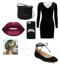 """""""Untitled #25"""" by gabporto on Polyvore featuring Topshop, Karl Lagerfeld, Lancaster and Lime Crime"""