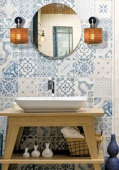If you're planning a tile project this year—whether it's flooring, a bathroom or a kitchen backsplash—here are 11 cool trends in tile to keep your eye on. Bathroom Wall Lights, Basement Bathroom, Bathroom Layout, Pink Tiles, Tile Manufacturers, Black And White Tiles, Tub Surround, Tile Projects, Metal Panels