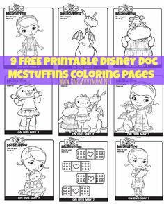 One Savvy Mom™ | NYC Area Mom Blog : 9 Free Disney Doc McStuffins Printable Coloring Pa...