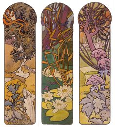 Alphonse Mucha. Design for the indoor stained glass panels of Georges Fouquet's Bijouterie, Paris, Musée Carnavalet (Carnavalet Museum).