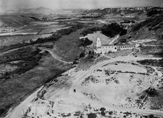 Serra Museum looking East over Mission Valley, 1929