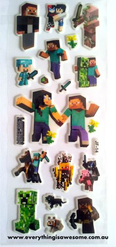 10 sheets Minecraft Puffy Stickers Looly bag filler Scrapbooking - http://www.austree.com.au/ads/baby-children/other-baby-children/10-sheets-minecraft-puffy-stickers-looly-bag-filler-scrapbooking/26340/