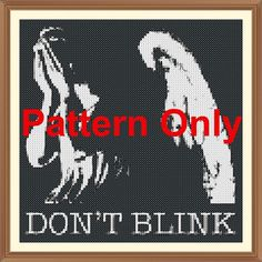 Weeping Angel (Doctor Who) Cross Stitch Pattern