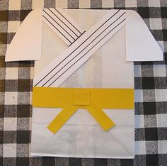 Karate Birthday Party Treat Sacks Ninja Martial Arts Tae Kwon Do Asian Theme Goody Bags by jettabees on Etsy