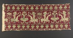 Embroidered Cloth from Azimur  Textile  Moroccan  ,  17th-18th century  Creation Place: Morocco  Long-armed cross and four-sided silk stitch on a cotton ground.